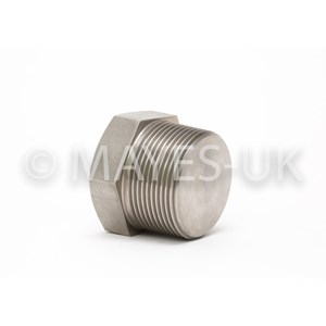 "1/8"" BSPT Hex Head Plug in 321/321H SS"