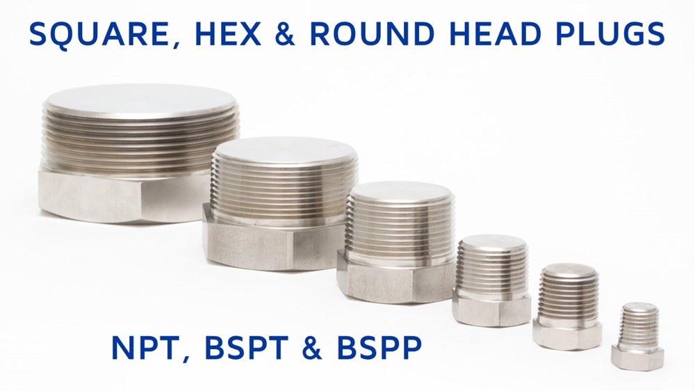 Square, Hex and Round Head Plugs